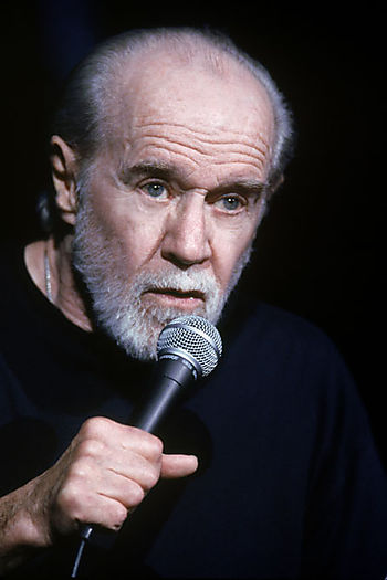George Carlin on stage
