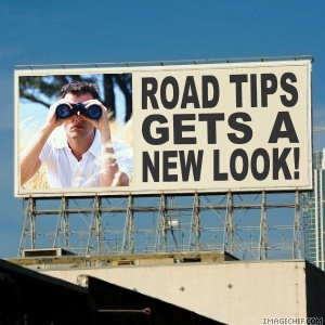 Road tips billboard