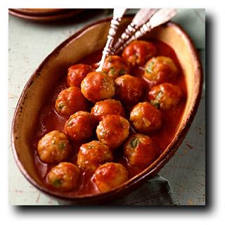 Meatballs and marinara