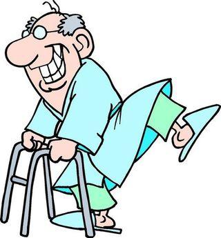 Old man walker