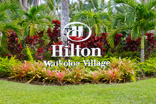 Hilton waikoloa village sign