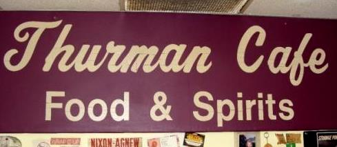 Thurman cafe sign
