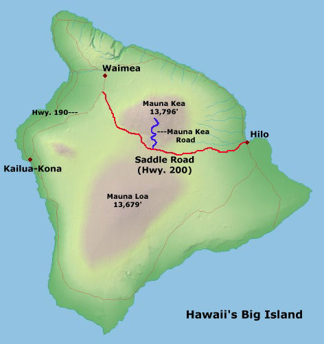 Saddle road map