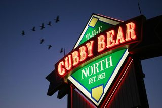 Cubby Bear north sign