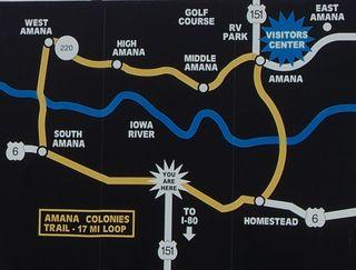 Amana Colonies Map