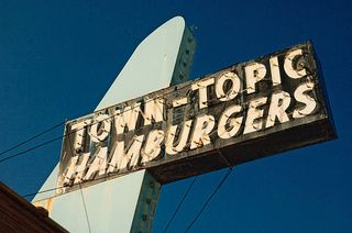 Town topic sign