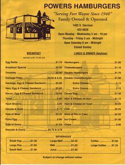 Powers menu