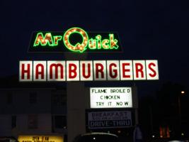 Mr. Quick sign