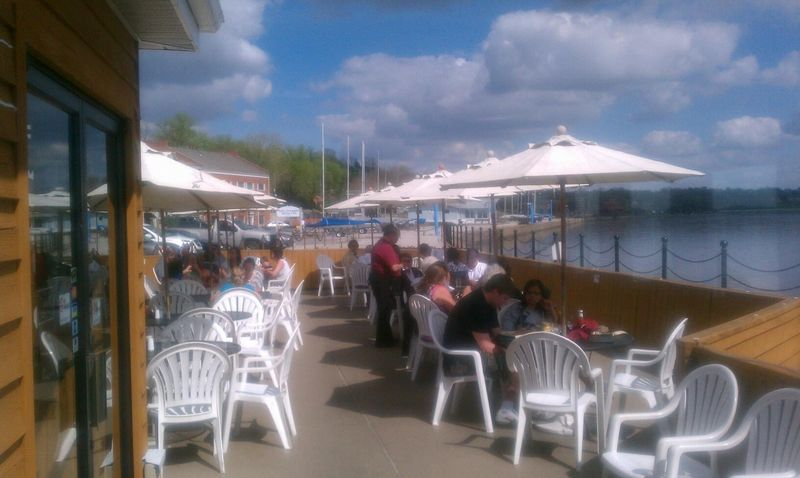 Boat house patio