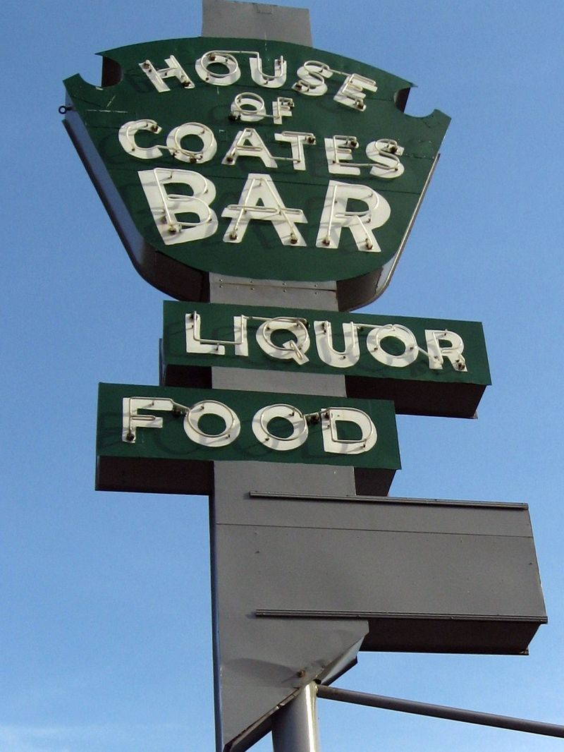 House of Coates sign