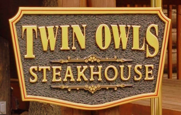 Twin Owls sign