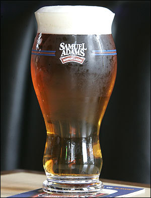 Sam Adams beer glass