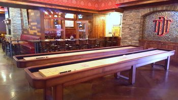 There Was A Gaming Area In The Back With Nice Pool Tables And Some Very  Elegant Walnut Shuffleboard Tables. The Stone Work In The Gaming Area And  An Arch ...