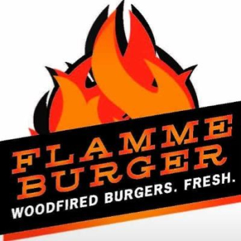 Flamme burger logo